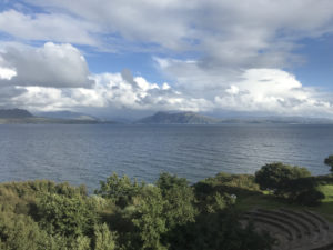 View from Sabhal Mòr Ostaig, Isle of Skye, Scotland, August 2018